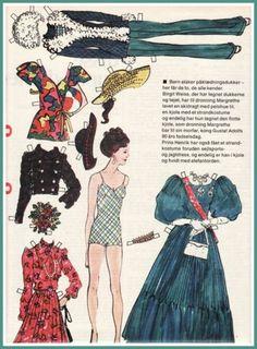 I 1973 sendte Søndags BT igennem året en række kendisser som påklædningsdukker.   Her er en af de første, nemlig vores Dronning Margrethe