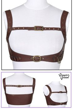 Steampunk Cosplay, Steampunk Diy, Leather Harness, Leather Belts, Posture Harness, Drawing Anime Clothes, Steampunk Accessories, Steampunk Wedding, Next Fashion