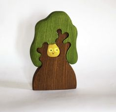 Waldorf wooden Tree with owl Wooden Puzzle eco friendly educational Infant Learning toys toddler gift Handcrafted forest fairy tale by MikheevManufactory on Etsy