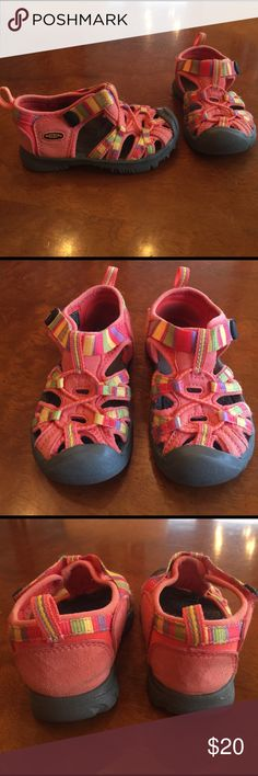 Kids Keen Sandal Size 7 Toddler Kids Keen Sandal Size 7 Toddler. Fabulous colors tangerine, yellow, green, purple, red. Never worn! Keen Shoes
