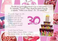 convite aniversário de 30 anos - Pesquisa Google