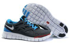 Anthracite White Black Royal Blue Nike Free Run 2 Men's Running Shoes