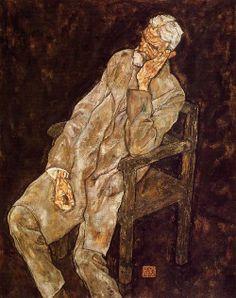 Schiele: portrait of an old man (Johann Harms).