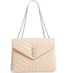 ba9c03bfd9c9 Main Image - Saint Laurent Medium LouLou Calfskin Leather Shoulder Bag  Leather Shoulder Bag