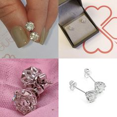 #jewelry #earrings #studearrings #14kwhitegold #diamondearrings #bridalearrings #weddingearrings #fineearrings #2caratsdiamonds #genuinediamonds #6prongsearrings #engagementearrings #solitaireearrings #diamondstuds #bridesmaidearrings #pushbackearrings Bridesmaid Earrings, Wedding Earrings, Wedding Jewelry, Solitaire Earrings, Diamond Earrings, Flower Earrings, Etsy Jewelry, Handmade Jewelry, Diamond Studs
