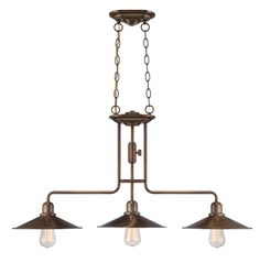 Buy the Designers Fountain Old Satin Brass Direct. Shop for the Designers Fountain Old Satin Brass Newbury Station 3 Light Cone Pendant and save. Industrial Lighting, Pendant Lighting, Chandelier, Pool Table Lighting, Lighting Ideas, Lighting Design, Thing 1, Kitchen Island Lighting, Island Pendants