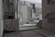 Interior views from conceptual concrete model