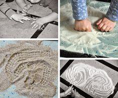 La sabbia permette molteplici usi e modi di gioco. La manipolazione compositiva è un'altra forma di sperimentazione che lascia spazio alla ...