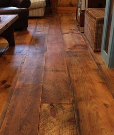 wide pine floors. gorgeous color. love how rustic it looks