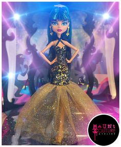 Monster High Cleo DeNile Egyptian Prom by HauntCoutureAtelier, $20.00