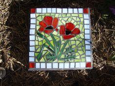 Mosaic Poppy paver