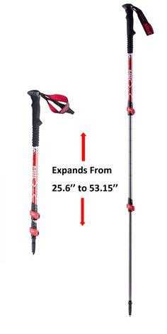 MBC-M371Q Aluminum Alloy Professional Trekking Pole Walking Stick Anti-Shock Hiking Alpenstock