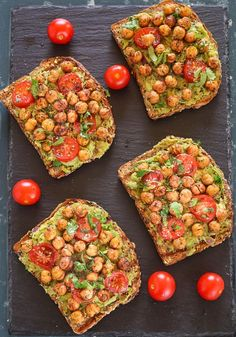 Avocado Toast With Roasted Chickpeas