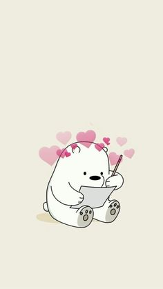wallpaper We Bare Bears ♥ Simpson Wallpaper Iphone, Cartoon Wallpaper Iphone, Disney Phone Wallpaper, Iphone Cartoon, Cute Panda Wallpaper, Bear Wallpaper, Kawaii Wallpaper, Mood Wallpaper, Pastel Wallpaper