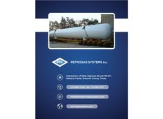 Industrial brochure design Petrogas Systems back cover page