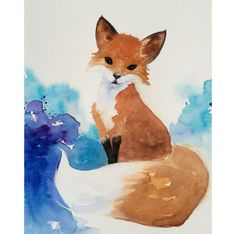 Watercolor Fox Art, Nursery Art, Kids Art, Woodland Painting, fox Illustration, Wildlife Art, Fox print,Childrens room decor wall art