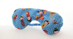 Blue Japanese Printed Lavender Eye Mask by Scrapcycling on Etsy