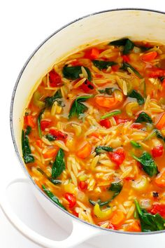 #guardians-of-the-food: Italian Orzo Spinach Soup