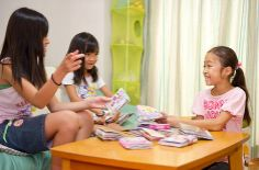 Girls get together at friends' houses to show their sticker books to each other—a fun and booming pastime.