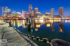 Early morning at Boston - Pinned by Mak Khalaf Classic shot of Boston from the Harborwalk Fan Pier park City and Architecture Bostonarchitecturebuildingcitycityscapenightnight photographynightscapeurban by Jean-FrancoisChaubard
