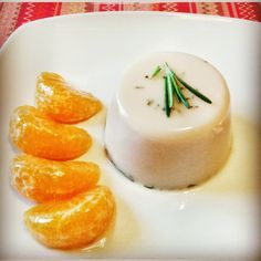 Pannacotta sin lactosa al Romero con mandarinas caramelizadas