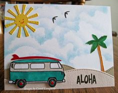 Avery Elle stamps - Aloha!