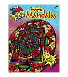 Adult Coloring Book-Dover Publications Mystic Mandalas 3D