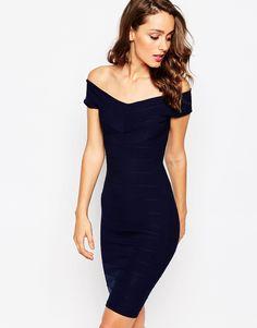 Sistaglam Ava Off Shoulder Midi Dress