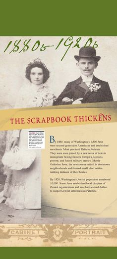 Section intro panel: 1880s - 1920s Scrapbook Thickens (click through to online exhibition)