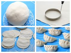 Learn how to make traditional Chinese dumplings from flours with video and step by step pictures. The ultimate guide to homemade yummy dumplings. Cooking Chinese Food, Asian Cooking, Korean Food, Appetizer Dishes, Appetizer Recipes, Appetizers, Dumpling Skin, Pasta Filo, How To Make Dumplings