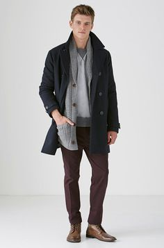 10 Winter Clothing Essentials For Men: Urban Pea Coat by Country Road. #Stylish365