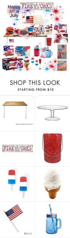 """Red, White, & Blue Nom Nom Nom"" by mommastephud ❤ liked on Polyvore featuring LSA International, Pier 1 Imports, SONOMA Goods for Life, Hostess, Fitz and Floyd, redwhiteandblue and july4th"