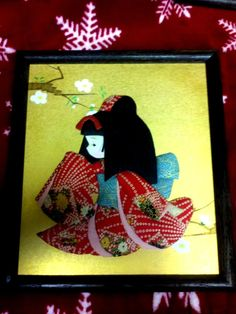 Vintage Japanese Fabric and Paper 3D Wall Dolls | eBay
