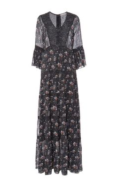 Aurora Patchwork French Floral Dress by ULLA JOHNSON for Preorder on Moda Operandi