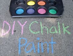 Sunny with a Chance of Sprinkles: toddler activity: chalk paint