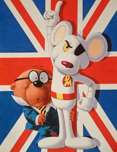 "Danger Mouse (White Wonder) (Mouse) (London, England) Secret agent, spy. Speaks 34 languages fluently, including some extraterrestrial ones. Practioner of ancient martial art Kung Moggy,Yoga. 3' 0"" tall. Penfold (Ernest Penfold alias The Jigsaw) (Hamster) (London, England) Secret agent, Danger Mouse assistant. Moral fibre. 2' 0"" tall."
