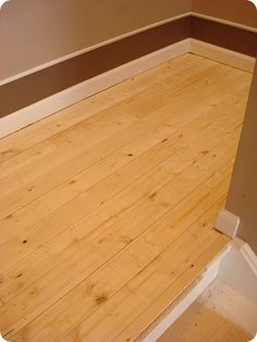 Thrifty Decor Chick: How to take carpet off stairs...and beadboard flooring??