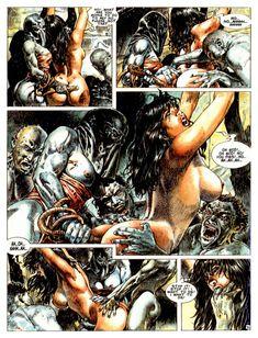 Druuna Carnivora by Paolo Eleuteri Serpieri Bd Comics, Marvel Comics, Comics In English, Serpieri, Artist Gallery, Fantasy Girl, Erotic Art, Art Images, Spiderman