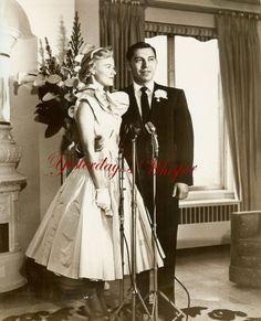 Photo Jack Webb Wife Original Candid B&W Publicity Dorothy Towne 1955