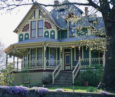 I love Victorian style houses-not just the design, the porches and the creative painting possibilities