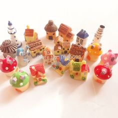 20pcs/lot new Mushroom House/thatched huts/cottage/pagoda mix dollhouse Toy Resin Christmas Children Gift Home Decoration Crafts-in Resin Crafts from Home & Garden on Aliexpress.com   Alibaba Group