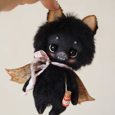 The Bat Halloween teddy soft toy