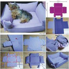 hundebett selber machen kostenloses tutorial anleitung hundebett oder schlafkissen selber. Black Bedroom Furniture Sets. Home Design Ideas