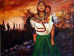 Niñas Mayas 073x060 Óleo sobre Lienzo