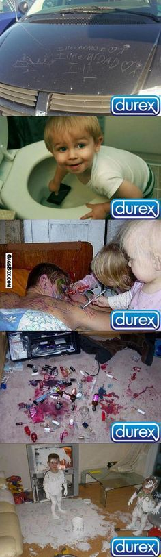 Durex condom commercial. No need, actually. Just seeing these pics, made my tubes tie themselves!