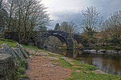Hexworthy Bridge also known as Huccaby Bridge, Hexworthy, Dartmoor National Park, Devon, England, Uk.
