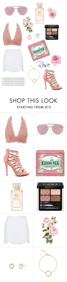 """rose-tinted lenses"" by lialicious on Polyvore featuring Charlotte Russe, Boohoo, Kusmi Tea, Tory Burch, Gucci, Topshop, contestentry and jenchaexmejuri"