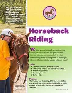 Cover of the Horseback Riding Badge Booklet for Junior Girl Scouts Junior Girl Scout Badges, Girl Scout Juniors, Girl Scout Leader, Girl Scout Troop, Scout Mom, Girl Scout Activities, Brownie Girl Scouts, Thinking Day, Secret To Success