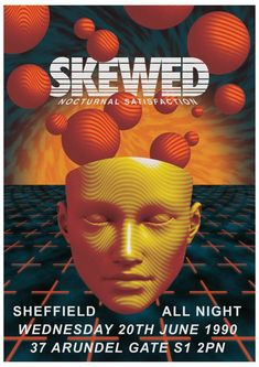 Skewed 90's Rave Poster