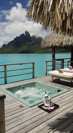 St Regis Resort, Bora Bora Premier overwater villa sundeck